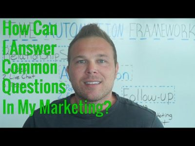 How Can I Answer Questions In My Marketing